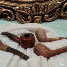 Pipas de fumar: PIPAS ANTIGUAS. COLECCIÓN DE 4 UNIDADES.. Lote 143615630