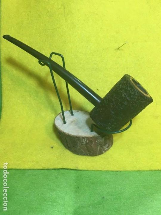 Pipas de fumar: Poker rusticada negra - Cazoleta forrada- Antigua - Foto 2 - 146560126