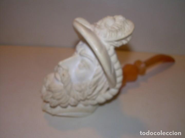 Pipas de fumar: IMPRESIONANTE POR SU TAMAÑO PIPA RICAMENTE TALLADA EN ESPUMA DE MAR..NUEVA SIN HABER SIDO USADA. - Foto 5 - 152221070