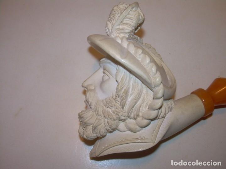 Pipas de fumar: IMPRESIONANTE POR SU TAMAÑO PIPA RICAMENTE TALLADA EN ESPUMA DE MAR..NUEVA SIN HABER SIDO USADA. - Foto 11 - 152221070