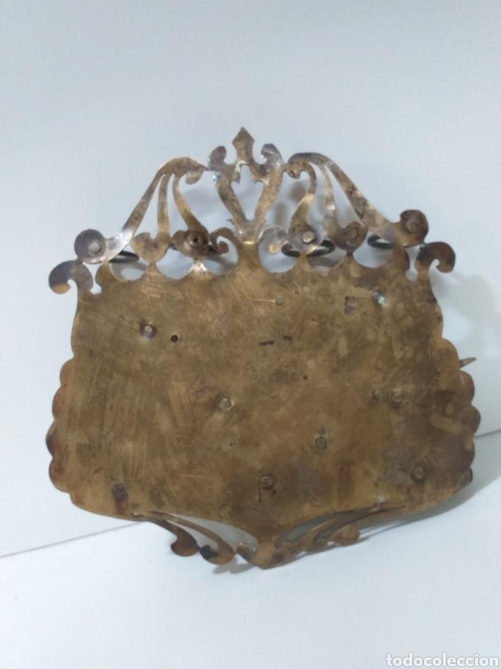 Pipas de fumar: Antiguo expositor o guarda pipas de fumar inglés, hecho en bronce, decorado con motivos campestres. - Foto 2 - 160631345