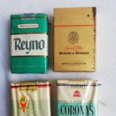 Pipas de fumar: LOTE 4 PAQUETES TABACO. CIGARRILLOS. REYNO. BENSON&HEDGES. EXTRA 46.CORONAS.SIN ABRIR.. Lote 166043952