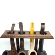 Pipas de fumar: PIPAS Y SOPORTE. Lote 167693645
