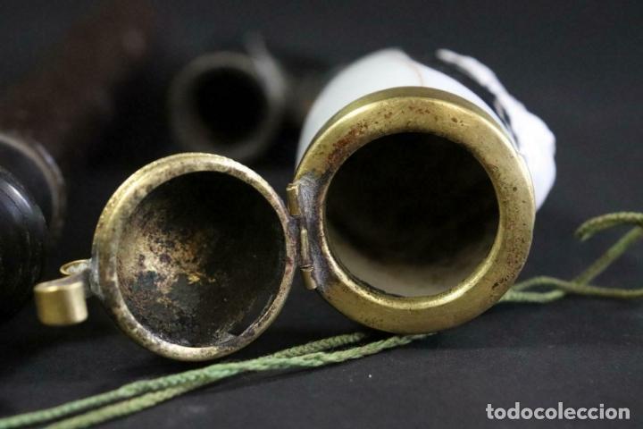 Pipas de fumar: museo unica pipa Tabaco pfeifenstock MADERA porcelana MEtAL pfeifenkopf Kaiser Guillermo 1900 ,530,0 - Foto 6 - 169061268