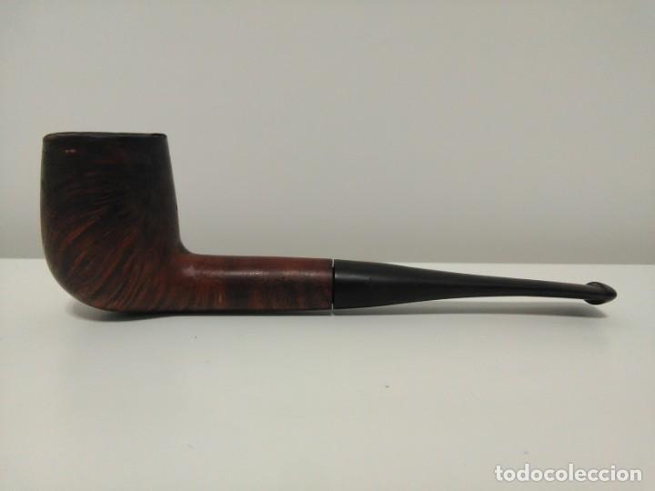 Pipas de fumar: PIPA DE FUMAR MARCA PIPEPLAN ENGLAND LINES. FABRICACIÓN INGLESA. MADERA PULIDA. - Foto 7 - 169823264