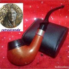 Pipas de fumar: PIPA DE FUMAR *EN MADERA NOBLE Y MATERIAL PLASTICO* ... EXCELENTE ESTADO.. Lote 170224280
