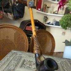 Pipas de fumar: PIPA CACHIMBA BAMBÚ MADERA. Lote 170416714