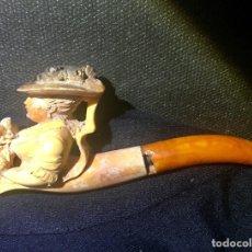 Pipas de fumar: ANTIGUA PIPA ARTESANAL REALIZADA EN ESPUMA DE MAR. (SEPIOLITA). Lote 170670830