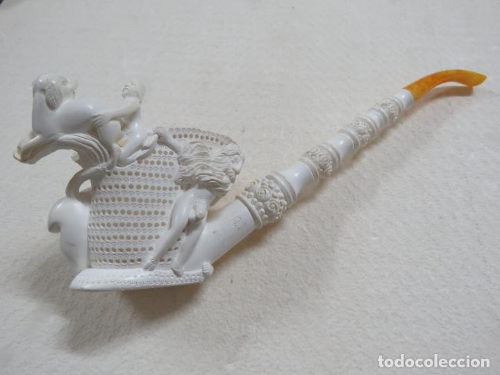 Pipas de fumar: COLOSAL PIPA EROTICA EN ESPUMA DE MAR O SEPIOLITA FIRMADA POR EL ARTISTA, ALGO UNICO, MIL DETALLES - Foto 2 - 173050310