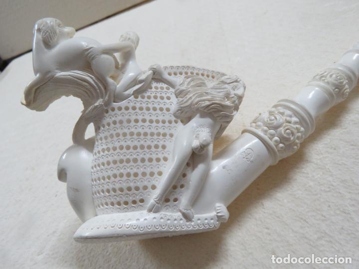 Pipas de fumar: COLOSAL PIPA EROTICA EN ESPUMA DE MAR O SEPIOLITA FIRMADA POR EL ARTISTA, ALGO UNICO, MIL DETALLES - Foto 5 - 173050310