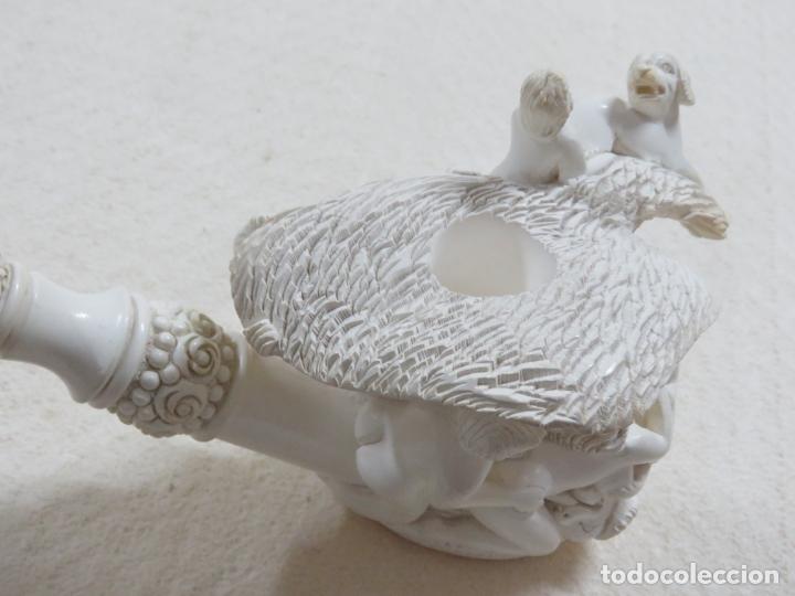 Pipas de fumar: COLOSAL PIPA EROTICA EN ESPUMA DE MAR O SEPIOLITA FIRMADA POR EL ARTISTA, ALGO UNICO, MIL DETALLES - Foto 10 - 173050310