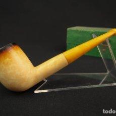 Pipas de fumar: ANTIGUA PIPA ESPUMA DE MAR Y AMBAR MARCA V.B.. Lote 175612433