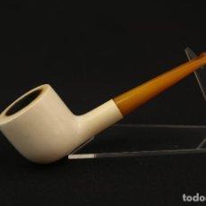 Pipas de fumar: ANTIGUA PIPA ESPUMA DE MAR Y AMBAR . Lote 175613229