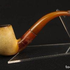 Pipas de fumar: ANTIGUA PIPA ESPUMA DE MAR Y AMBAR FINALES SIGLO XIX. Lote 175613365