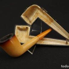 Pipas de fumar: ANTIGUA PIPA ESPUMA DE MAR Y AMBAR FINALES SIGLO XIX. Lote 175613662