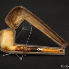 Pipas de fumar: ANTIGUA PIPA ESPUMA DE MAR Y AMBAR FINALES SIGLO XIX. Lote 175613807