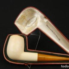Pipas de fumar: ANTIGUA PIPA ESPUMA DE MAR Y AMBAR FINALES SIGLO XIX. Lote 175614589