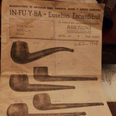 Pipas de fumar: CATALOGO DE PIPAS Y DE BOQUILLAS. 1948. Lote 183206518