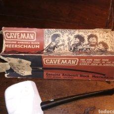 Pipas de fumar: VIEJA PIPA / CACHIMBA CAVEMAN DE TANZANIA SIN USO. Lote 186020217