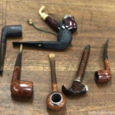 Pipas de fumar: LOTE SURTIDO DE 7 PIPAS. DIFERENTES MARCAS. VER MODELOS. Lote 188185745