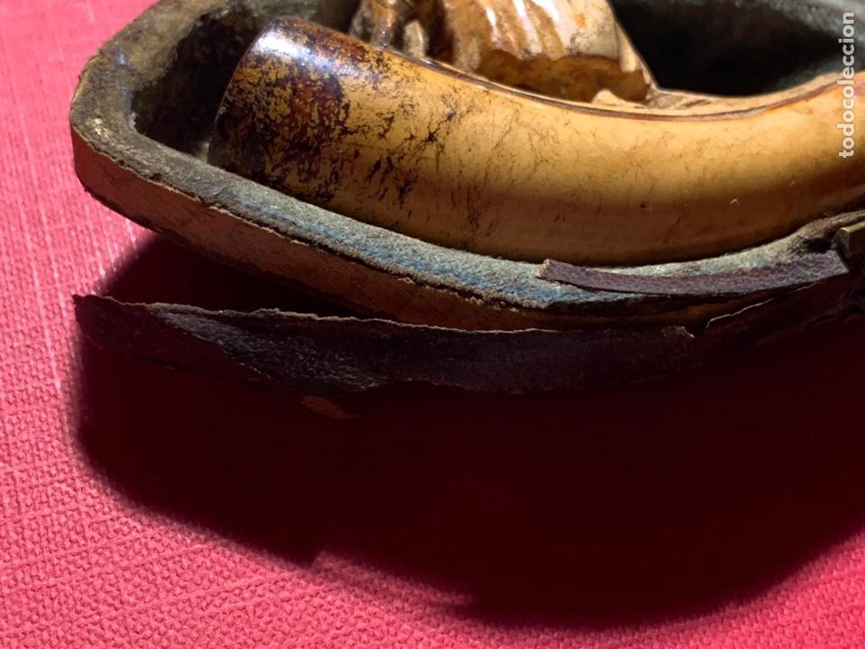 Pipas de fumar: Magnífica pipa de espuma de mar. S XIX. Le falta la parte superior de su cajita - Foto 7 - 189816957