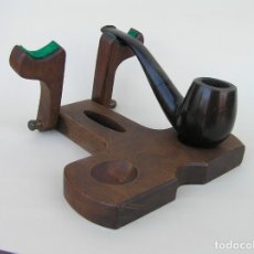 Pipas de fumar: EXPOSITOR DE PIPAS PLEGABLE.DE VIAJE O DE BOLSILLO.. Lote 195632167