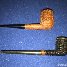 Pipas de fumar: 2 PIPAS PARA MADERA FUMAR TABACO. Lote 196037325