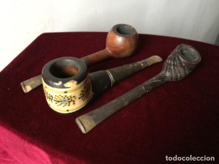 PIPAS , LOTE DE TRES PIPAS VINTAGE (Coleccionismo - Objetos para Fumar - Pipas)
