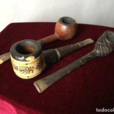 Pipas de fumar: PIPAS , LOTE DE TRES PIPAS VINTAGE. Lote 196449956