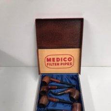 Pipas de fumar: COLECCION DE PIPAS DE MADERA ANTIGUA. Lote 198056748