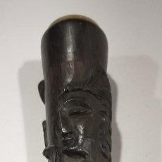 Pipas de fumar: PIPA DE FUMAR MADERA TALLADA BUDA Y SERPIENTE. EBONIZADA. PORCELANA. Lote 199586912