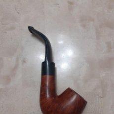 Pipas de fumar: PIPA CURVA DE MADERA DE BREZO FIRMADA. Lote 211521694