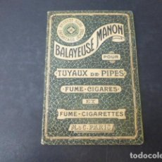 Pipas de fumar: PAQUETE BARREDORA PARA LIMPIEZA DE PIPAS SIGLO XIX PARIS. Lote 211719830