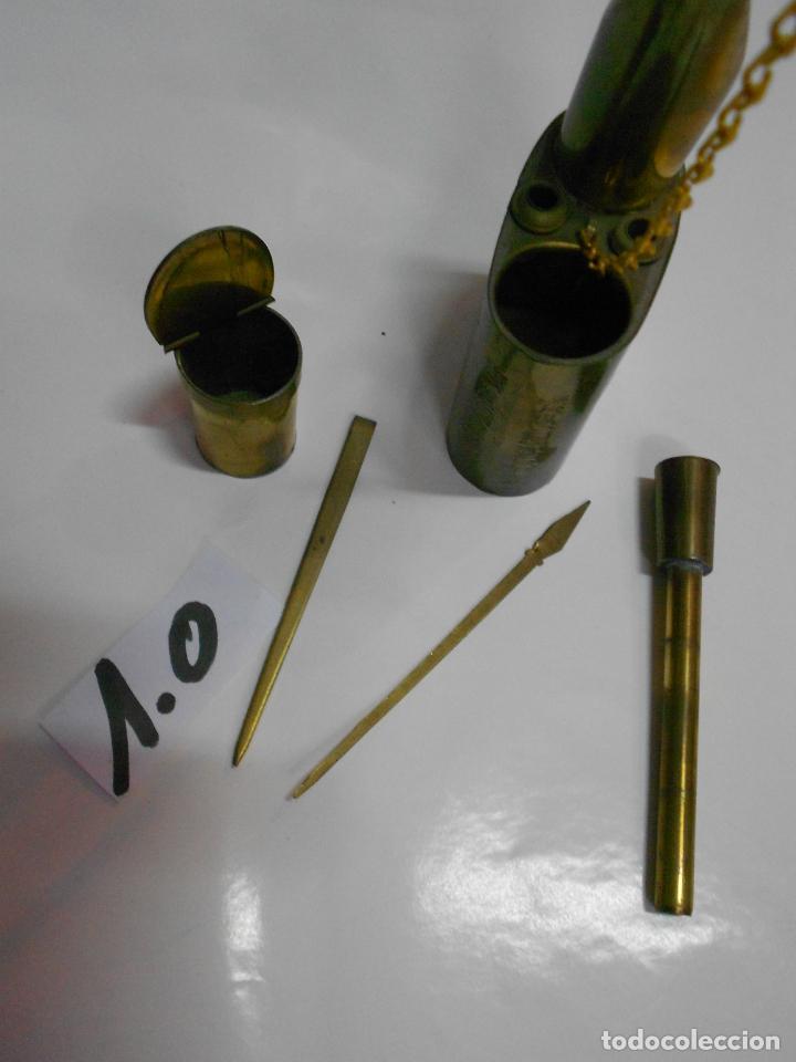 Pipas de fumar: ANTIGUA PIPA DE FUMAR DE METAL CON GRABADOS Y ACCESORIOS VARIOS EN BUEN ESTADO - Foto 6 - 214508397
