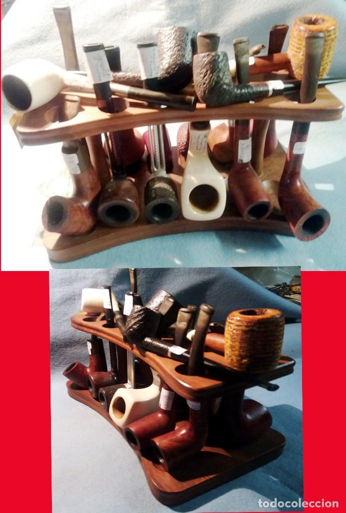 Pipas de fumar: MINI COLECC. DE 12 PIPAS DIFERENTES y VARIOS MATERIALES + PORTA PIPAS. EN BUEN USO. Individual 475 € - Foto 2 - 217809485