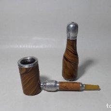 Pipas de fumar: ANTIGUA CURIOSA PIPA DESMONTABLE CON VISOR DONDE SE VE UNA IMAGEN EROTICA, MEDIDA 14,5 CM.. Lote 217877675