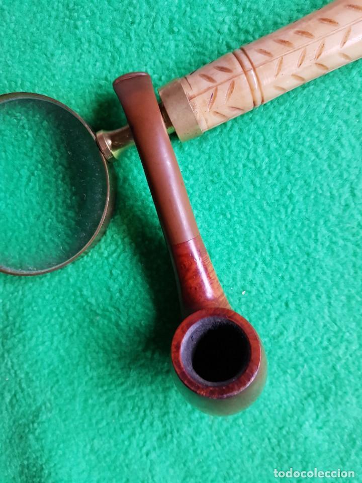 Pipas de fumar: PIPA INGLESA SEMI CURVA MUY FINA Y BIEN CUIDADA - Foto 4 - 221934311