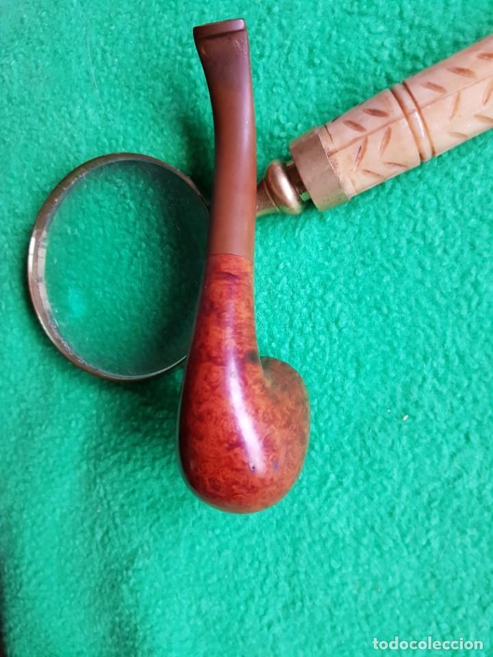 Pipas de fumar: PIPA INGLESA SEMI CURVA MUY FINA Y BIEN CUIDADA - Foto 5 - 221934311