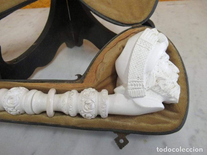 Pipas de fumar: PIPA ESPUMA DE MAR - CON ESTUCHE - 35 CM LARGO - Foto 4 - 229038625