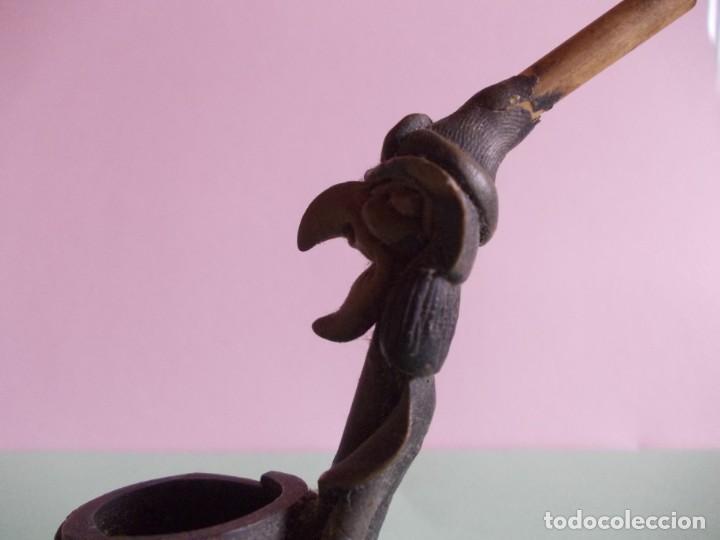 Pipas de fumar: Pipa pequeña para fumar formato bruja con caldero - Foto 4 - 235177430