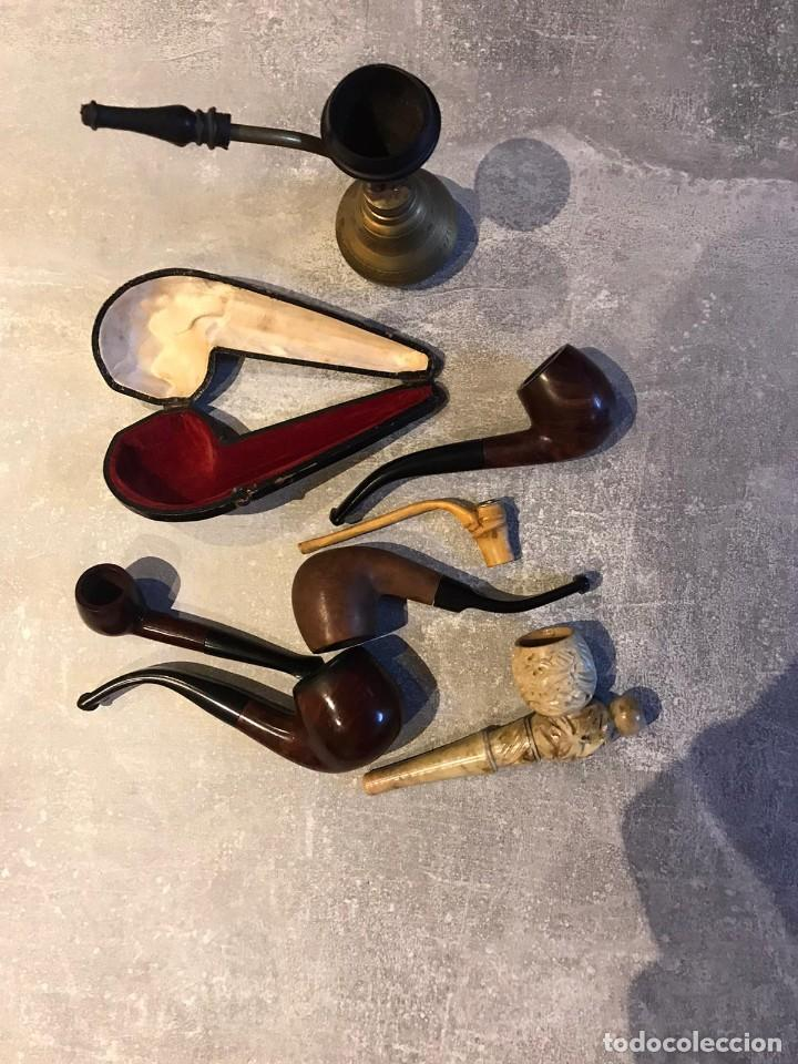 Pipas de fumar: LOTE DE 7 PIPAS Y 1 FUNDA DE FUMAR, PIPA DE AGUA ARGUILA, BAMBU, MARMOL, MARCAS ADYIN, ACIRE, COGAR - Foto 3 - 235373215