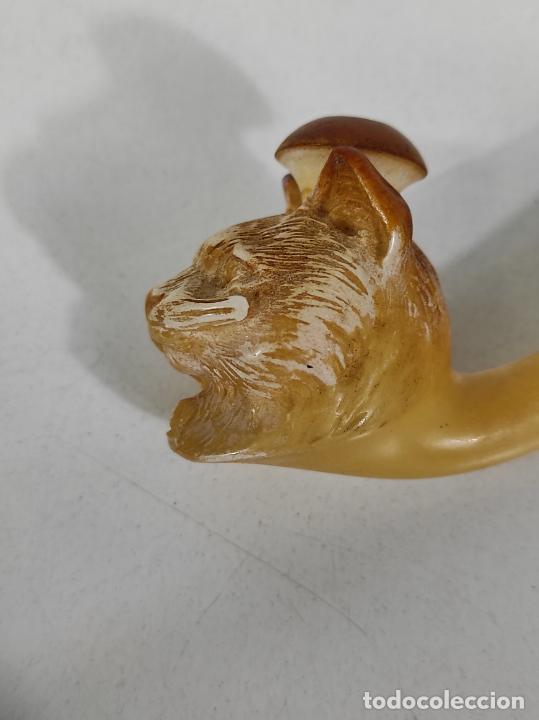 Pipas de fumar: Antigua Pipa J.Sommer - Cabeza de Gato, Talla en Espuma de Mar - con Estuche - Foto 5 - 236195680