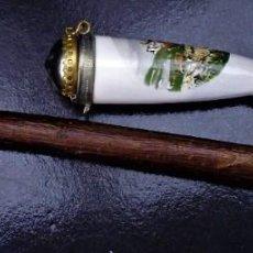 Pipas de fumar: PIPA CERAMICA CON UNA BONITA PINTURA MIRA LAS FOTOS LOTE Nº8. Lote 238448575