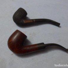 Pipas de fumar: * LOTE 2 ANTIGUAS PIPAS DE FUMAR CON MARCAS, VER FOTOS, ORIGINALES. ZX. Lote 246545070