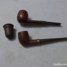 Pipas de fumar: * LOTE 2 ANTIGUAS PIPAS DE FUMAR CON MARCAS + ACCESORIO, VER FOTOS, ORIGINALES. ZX. Lote 246546260