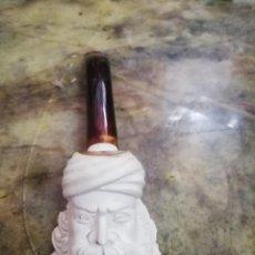 Pipas de fumar: PIPA DE ESPUMA DE MAR TALLADA. LONGITUD 16 CMS APROX.. Lote 254495870