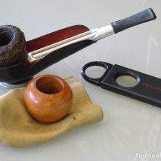 Pipas de fumar: PIPA DE FUMAR. MARCA MARCAJE FALCON MADE IN ENGLAND. CON DOS CAZOLETAS Y EXPOSITOR. 120GR. Lote 255663640