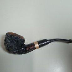 Pipas de fumar: BONITA PIPA PARA FUMAR LOGARS MADERA TALLADA.. Lote 263629485