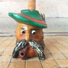Pipas de fumar: PIPA EN MADERA TALLADA MUSICAL A CUERDA SUIZA REUGE STE. CROIX. Lote 263805485
