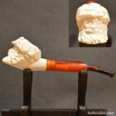 Pipas de fumar: ANTIGUA PIPA DE ESPUMA DE MAR SIN USO. Lote 266592928